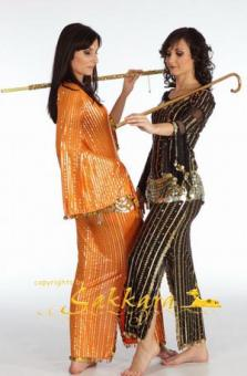 Saidi-Kleid orange-gold
