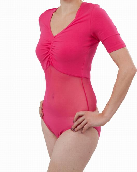 power mesh leotard