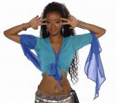 bellydance blouse turquoise/royal blue size M turquoise/blue (T) | (-M)